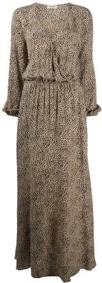 Zadig & Voltaire Rikko leopard-print long dress