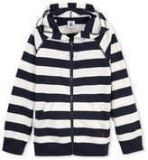 Petit Bateau Boys hooded sweatshirt with wide stripes