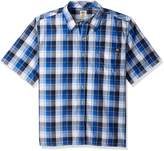 Dickies Men's Big-Tall Short Sleeve Square Bottom Plaid Shirt
