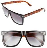 Tom Ford Men's Morgan 57Mm Sunglasses - Black/ Other / Gradient Smoke