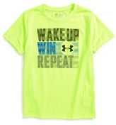 Under Armour Toddler Boy's Wake Up Win Repeat Heatgear T-Shirt