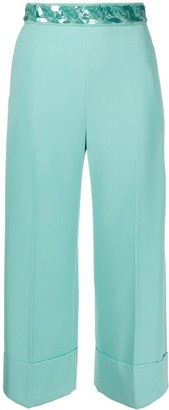 Elisabetta Franchi Sequinned Belt Trousers