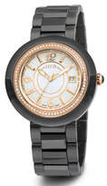 Alor Cavo 43mm Diamond Watch w/ Ceramic Bracelet Strap, All Black/Rose