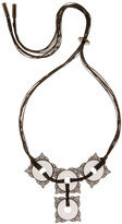House Of Harlow White Agate Frontal Statement Cord Necklace