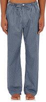 Barneys New York Men's Checked Cotton Pajama Pants-LIGHT BLUE, NAVY, BLUE