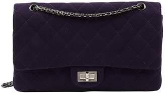 Chanel 2.55 Purple Cloth Handbags