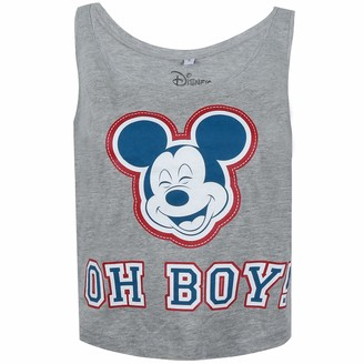 Disney Women's Mickey Mouse-Oh Boy Vest Top
