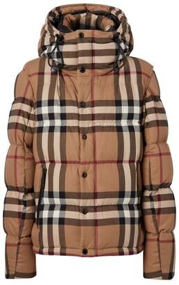 Burberry Convertible Check Puffer Jacket
