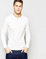 Tommy Hilfiger Long Sleeve T-shirt With Henley White