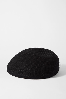 Eugenia Kim Coco Wool-felt And Mesh Beret - Black