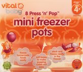 Vital Baby Mini Press 'n' Pop Freezer Pots