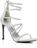 Stuart Weitzman Myex Glitter Strappy High Heel Sandals