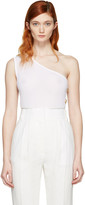Balmain White Single-Shoulder Tank Top