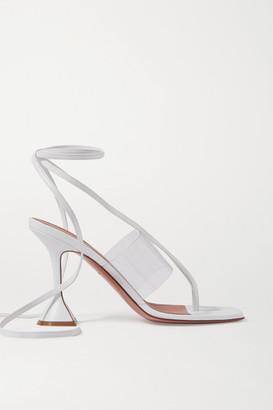 Amina Muaddi Zula Pvc And Leather Sandals - White