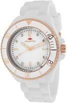 Seapro SP7413 Women's Sea Bubble White Silicone Watch with Crystal Accents