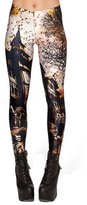 FOREV Women's Printed Brushed Elastic Leggings, Haunted House