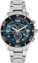 Citizen Citizen Eco-Drive blue dial chronograph stainless steel bracelet mens watch