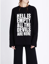 Gareth Pugh Hell is Empty wool-blend sweatshirt