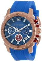 Vince Camuto Women's VC/5102RGBL Rose Gold-Tone Chronograph Blue Resin Strap Watch