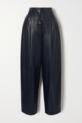 Philosophy di Lorenzo Serafini Faux Leather Tapered Pants - Midnight blue