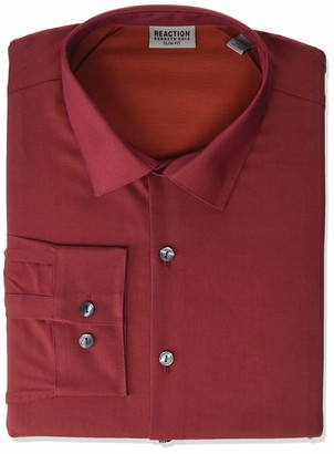Kenneth Cole Reaction Men's Dress Shirt Slim Fit All-Day Flex Technicole Stretch Solid