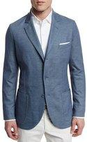 Loro Piana Two-Button Jersey Blazer, Aqua Glass