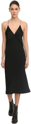 Haider Ackermann Shiny Viscose Blend Camisole Midi Dress