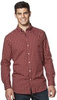 Chaps Big & Tall Classic-Fit Plaid Oxford Button-Down Shirt