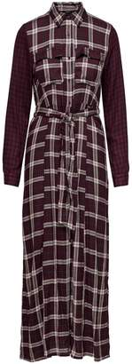 Only Checked Belted Shirtdress