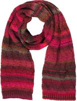 Missoni Pink and Red Stripes Wool Blend Women's Long Scarf