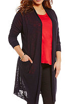 Gibson & Latimer Plus Mix Media Cardigan