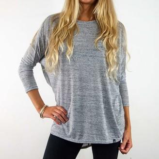 Watershed Brand - Ladies Dropped Hem Jersey Grey - polyester | SIZE 12-14 | grey - Grey/Grey
