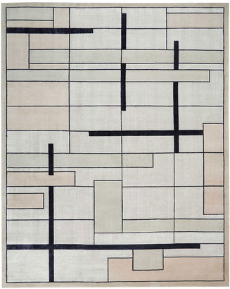Christopher Guy Avenue Silvery Moon Hand-Knotted Rug, 10' x 14'