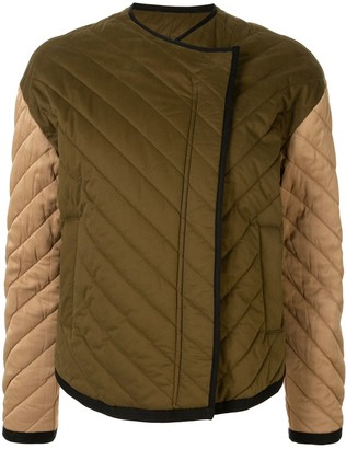 Frame Two-Tone Quilted Jacket
