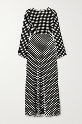 BERNADETTE Jane Gingham Velvet Maxi Dress - Black