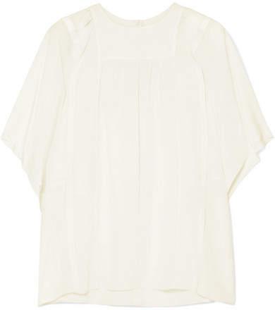 Chloé Silk Crepe De Chine Blouse - White