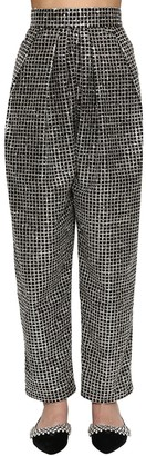 DANIELE CARLOTTA High Waist Lurex Wide Leg Pants