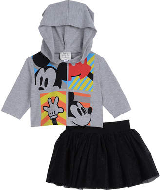 Pippa Disney X & Julie Mickey Mouse Two-Piece Top and Skirt Set, Size 0-24 Months