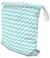 Bed Bath & Beyond Planet Wise Large Roll-Down Wet Bag in Teal Chevron