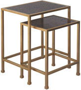Port 68 S/2 Peyton Nesting Tables, Gold Leaf