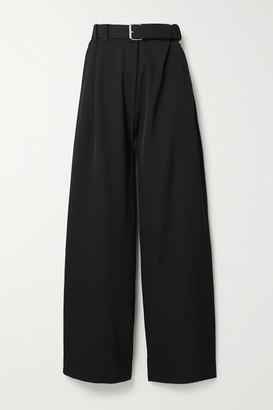 The Row Nerea Belted Wool Wide-leg Pants - Black