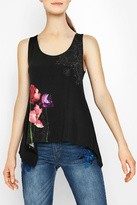 Desigual Black Sleeveless Blouse