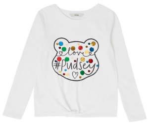 Bell George Children in Need Embellished Pudsey Long Sleeve Top