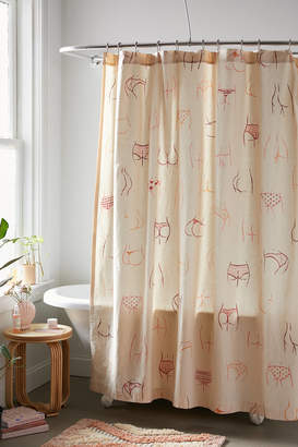 Urban Outfitters Allover Booties Shower Curtain