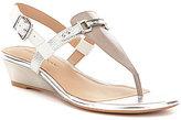 Antonio Melani Amirah Metallic Leather Wedge Sandals