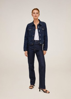 MANGO Dark denim jacket dark blue - XS - Women