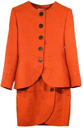 Saint Laurent Orange Linen Jackets