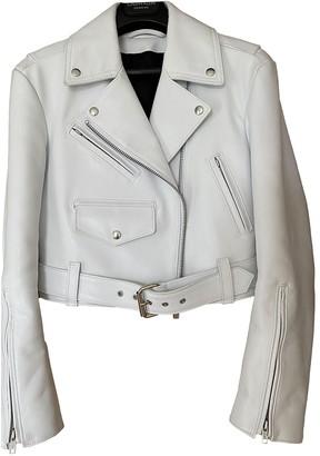 Calvin Klein White Leather Jackets