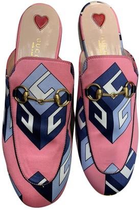 Gucci Princetown Pink Faux fur Flats