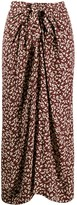 Thumbnail for your product : Ganni Floral Print Midi Skirt